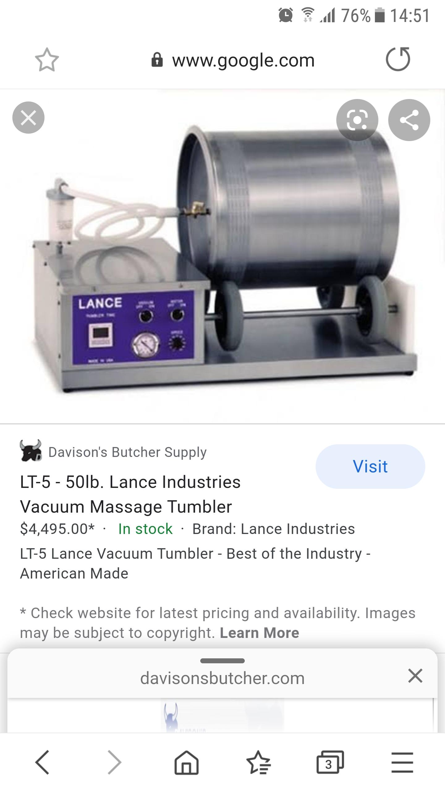 Meat vacuum tumbler