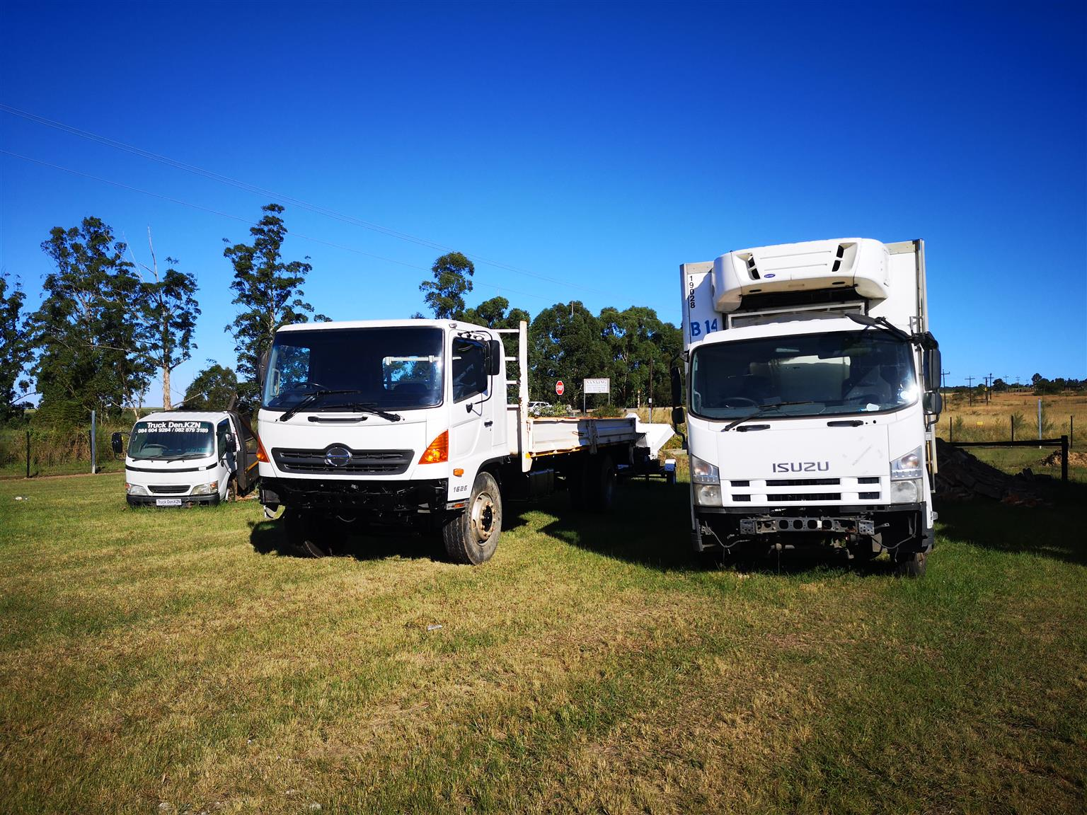 Stripping trucks for spares