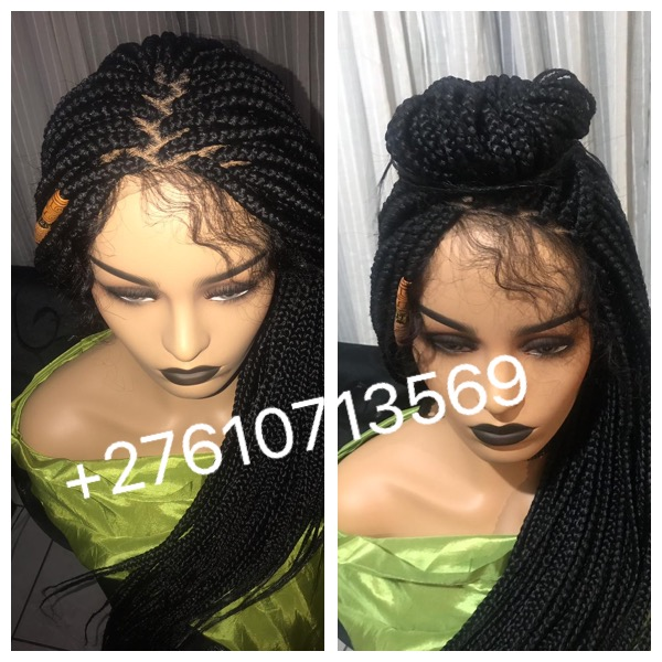 Lace front braided wigs