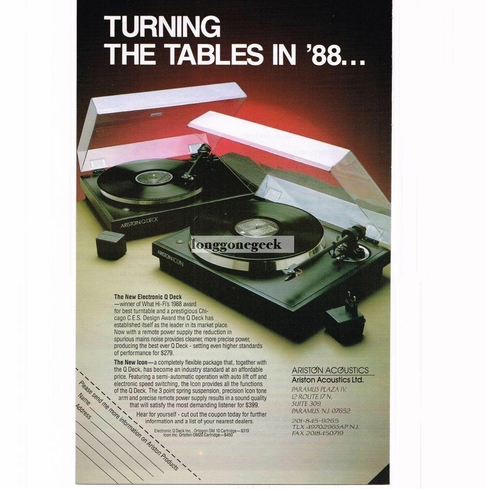 Ariston Q Deck Turntable - British classic