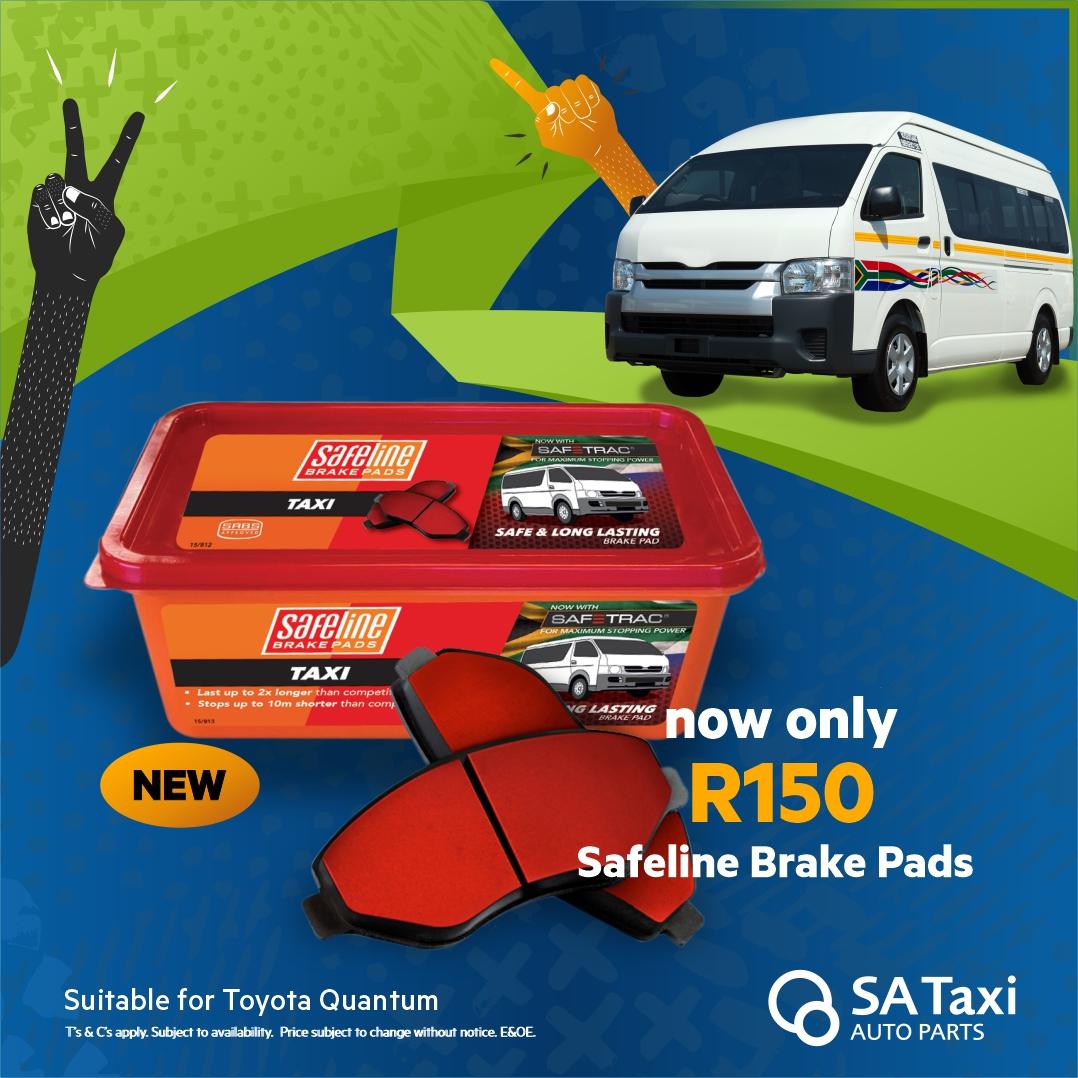 Safeline Taxi Brake Pad Set