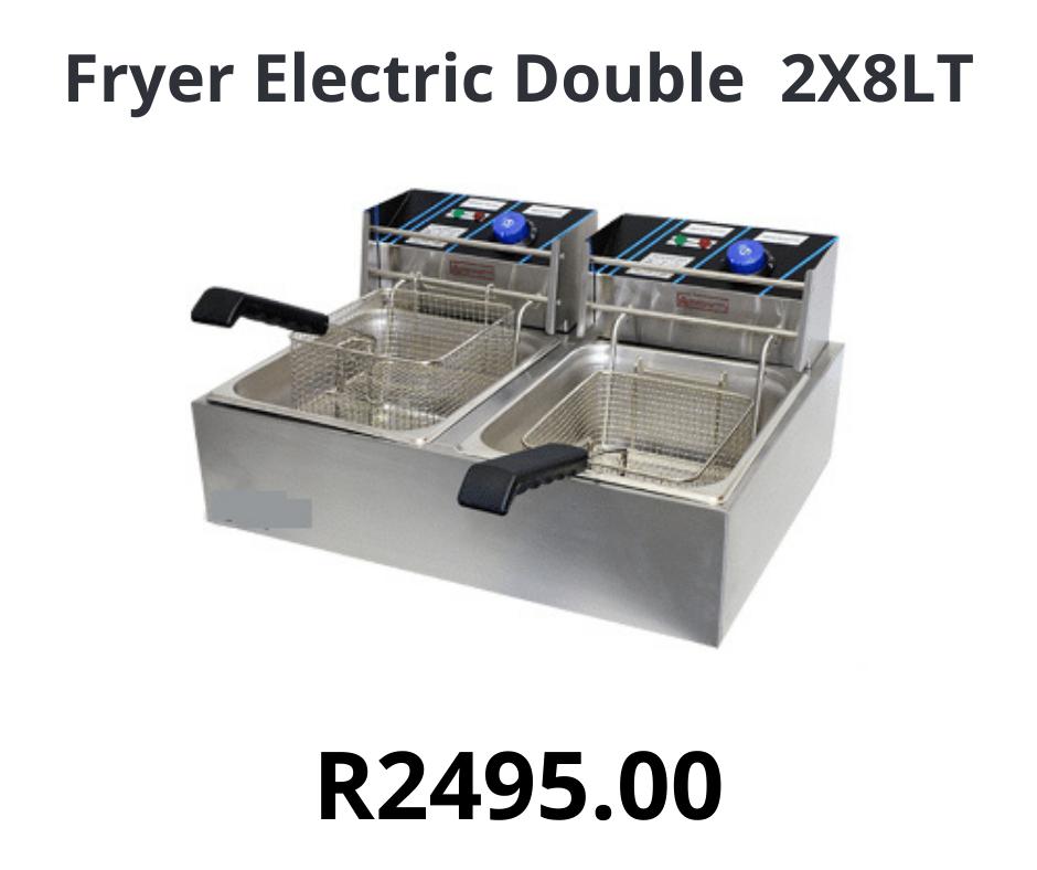 Fryer Electric Double 2X8LT