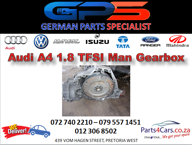 Audi A4 1.8 TFSI Manual Gearbox for Sale
