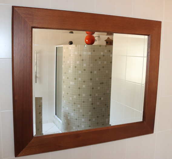 Brown-Framed Mirror