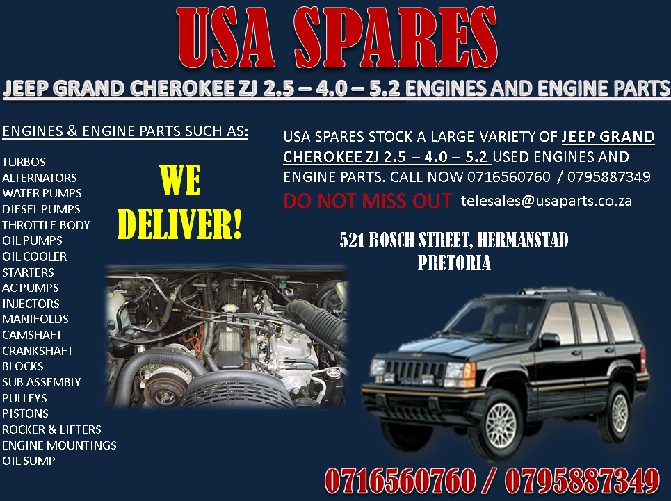 Jeep 2 5 Engine >> Jeep Grand Cherokee 2 5 4 0 5 7 Engines And Engine Parts