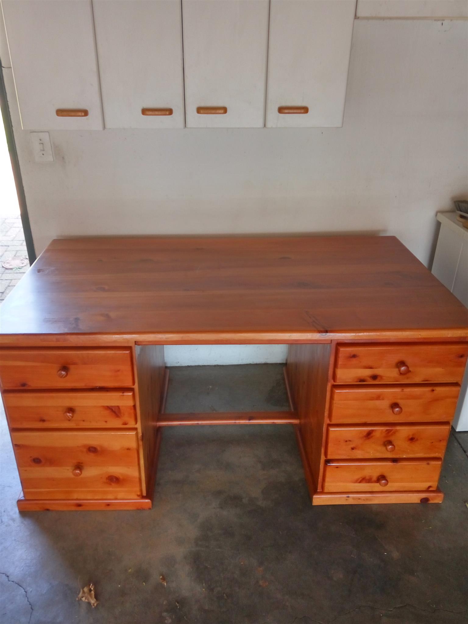 Solid wood desk junk mail