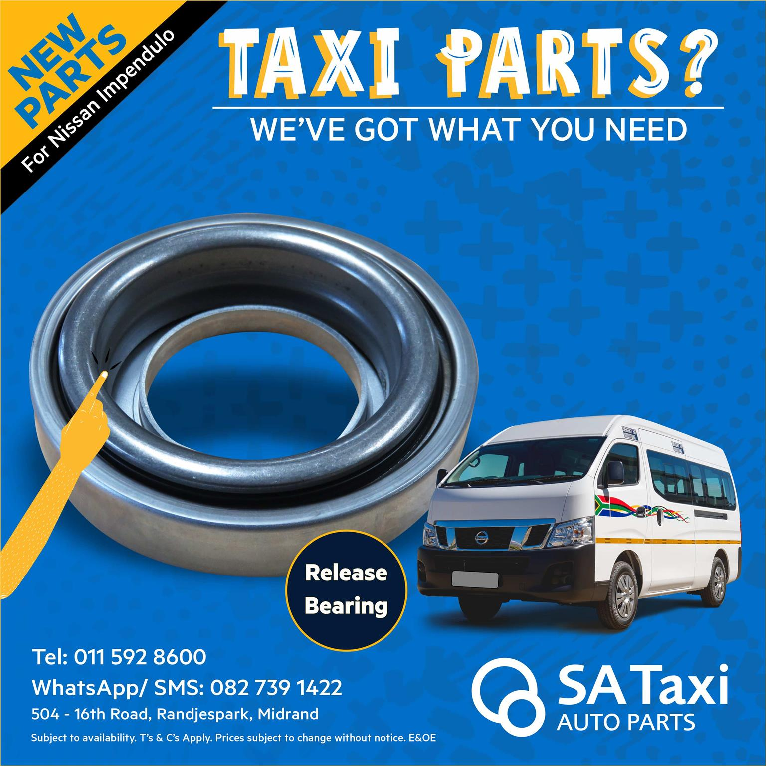 NEW Release Bearing for Nissan Impendulo - SA Taxi Auto Parts quality spares