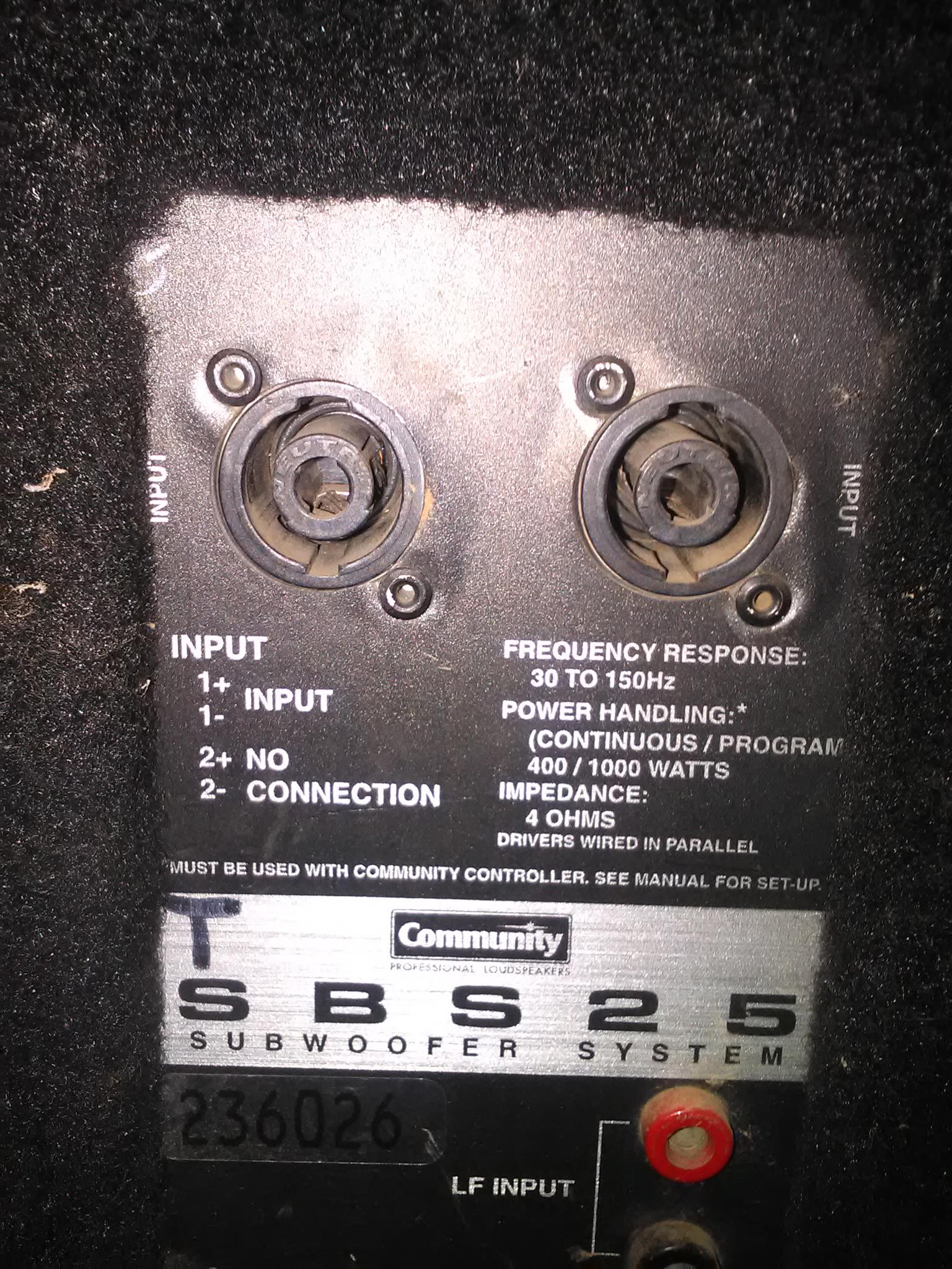 Bass Subwoofer Quad Bins