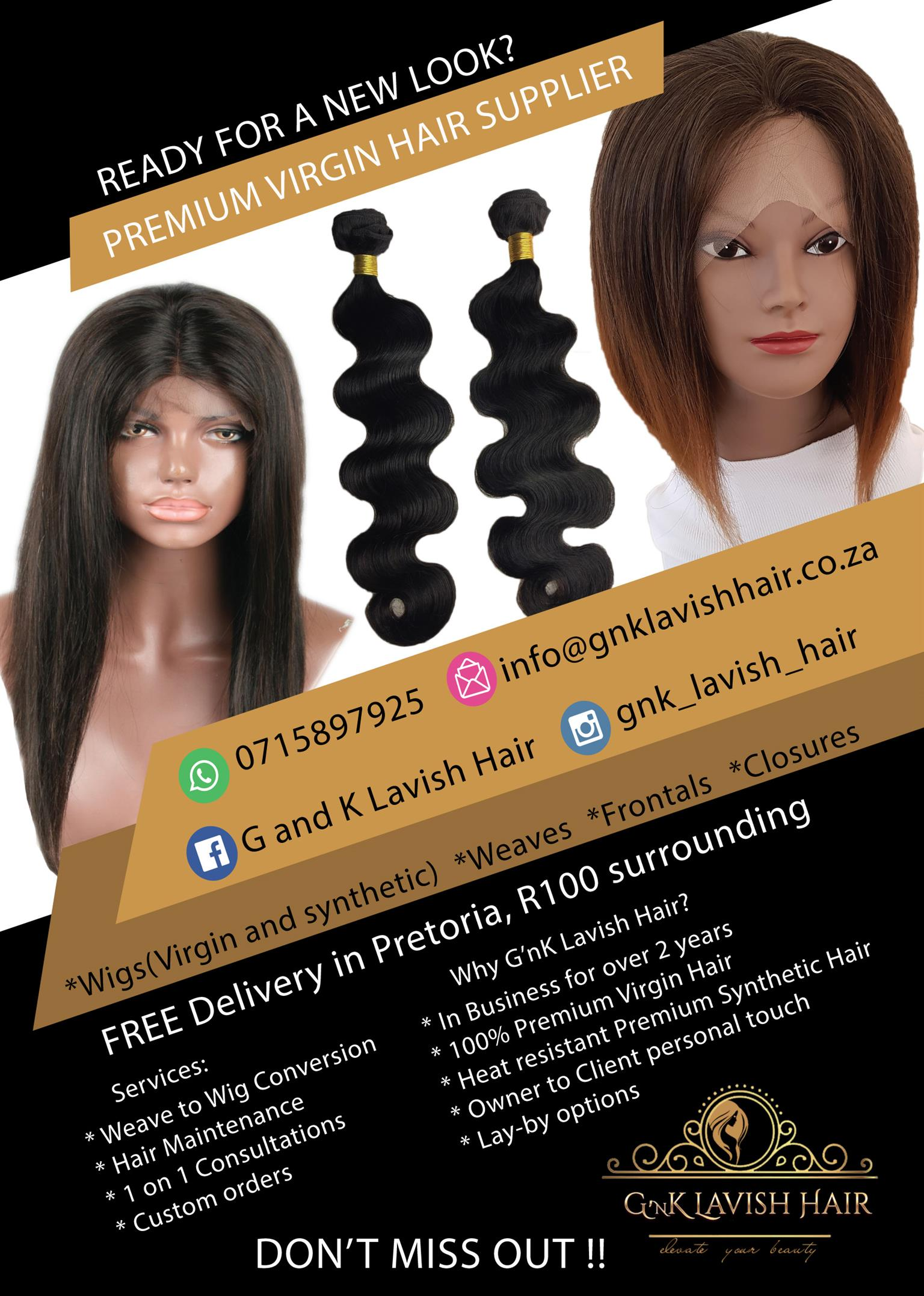 Premium Lace Front Wigs And Weave Hair Extensions 100 Virgin
