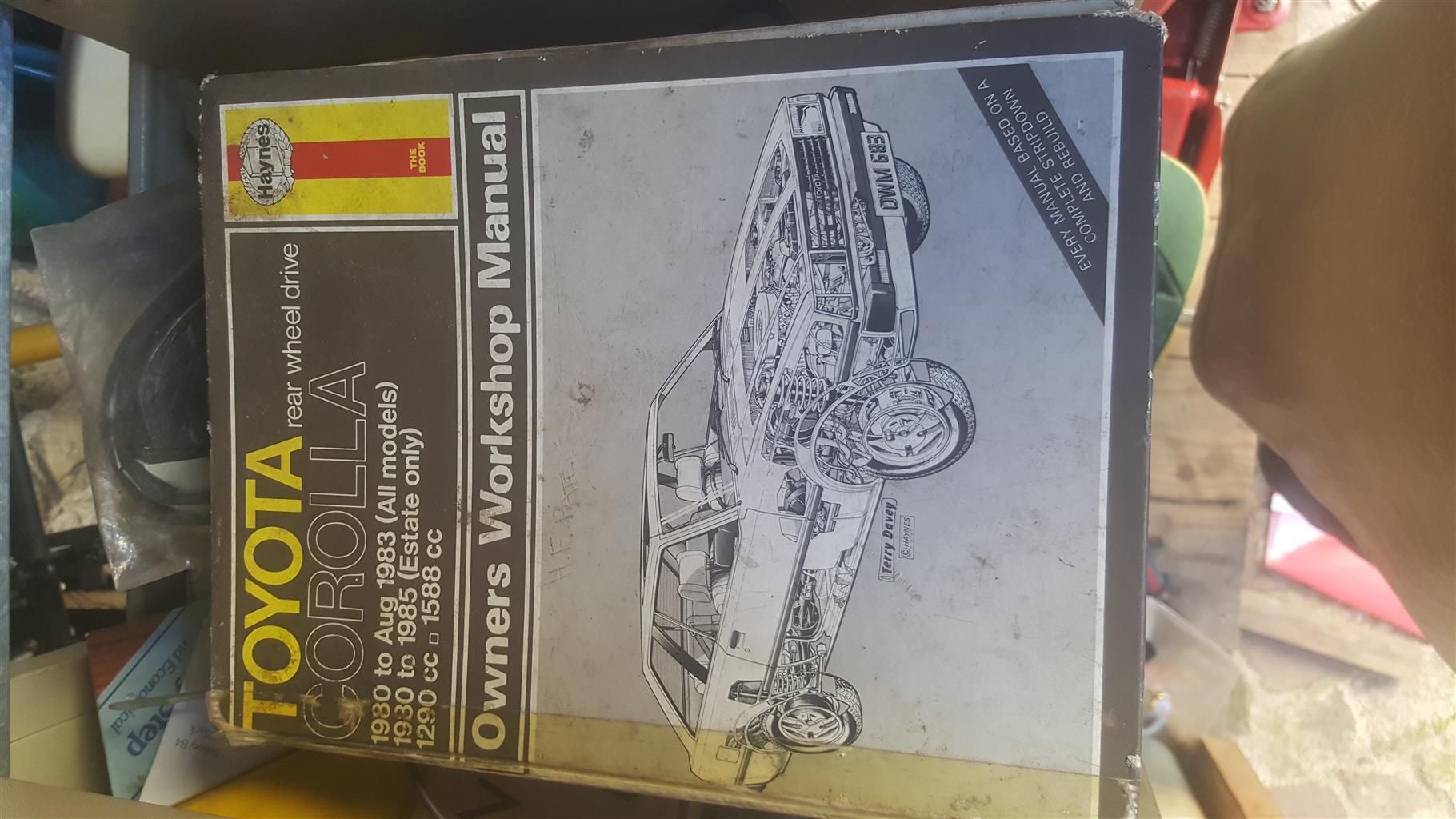 2 car manuals as per pics,second hand