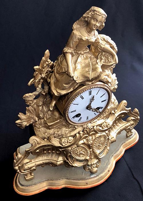 ANTIQUE JAPY FRERES MANTLE CLOCK. MEDAILLE D'HONNEUR, C 1855