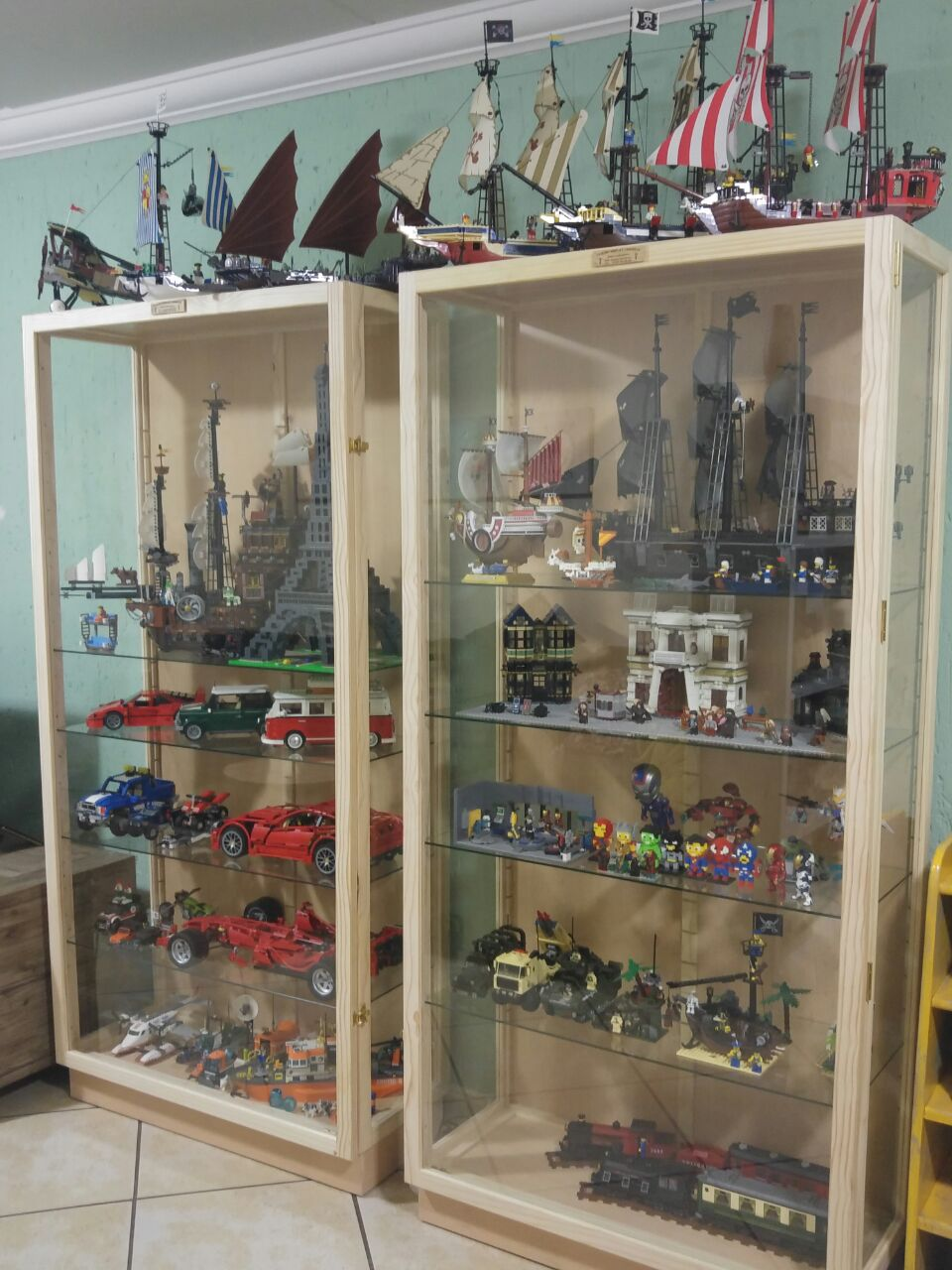 "Action Figures, Character and Collectibles Show Cases and ""Display Cabinets Custom made"