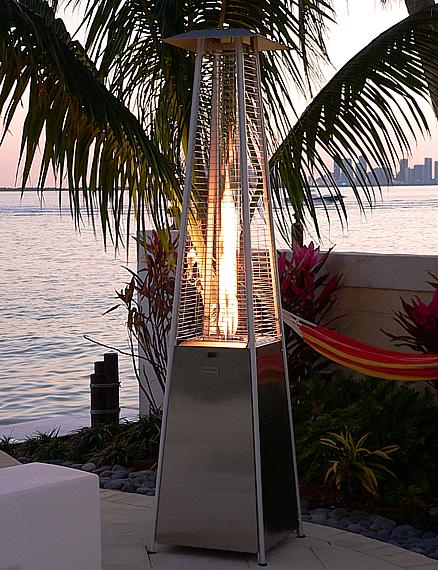 Stainless Steel Pyramid Flame Patio Heater