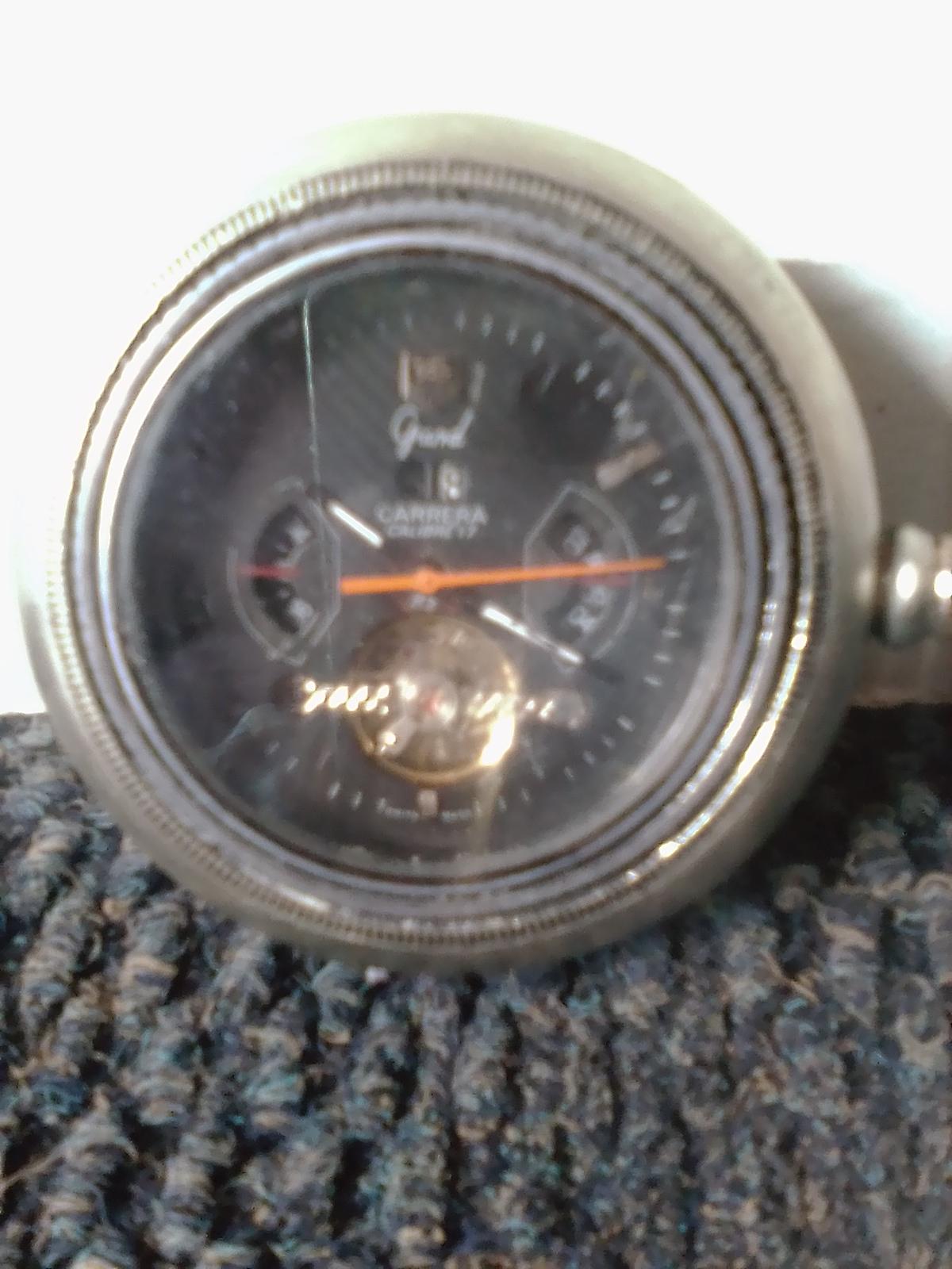 Tag Heuer Grand Carrera Calibre 17 silver pocket watch