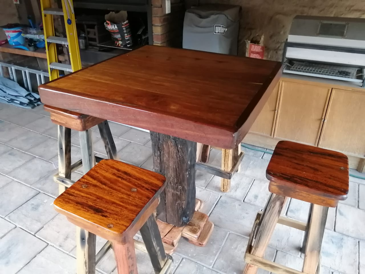 Bar tafel 4stoele