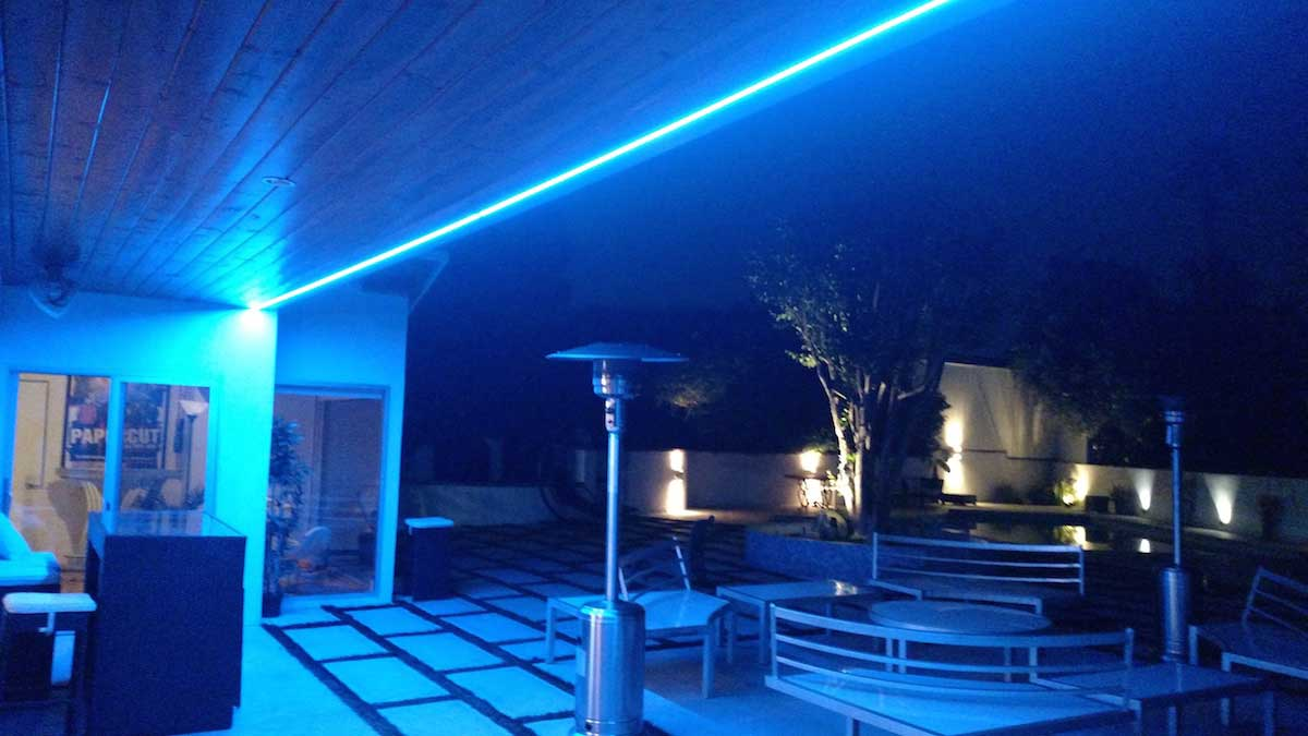 Led Strip Light Rope 100metres Roll 220volts Blue Colour