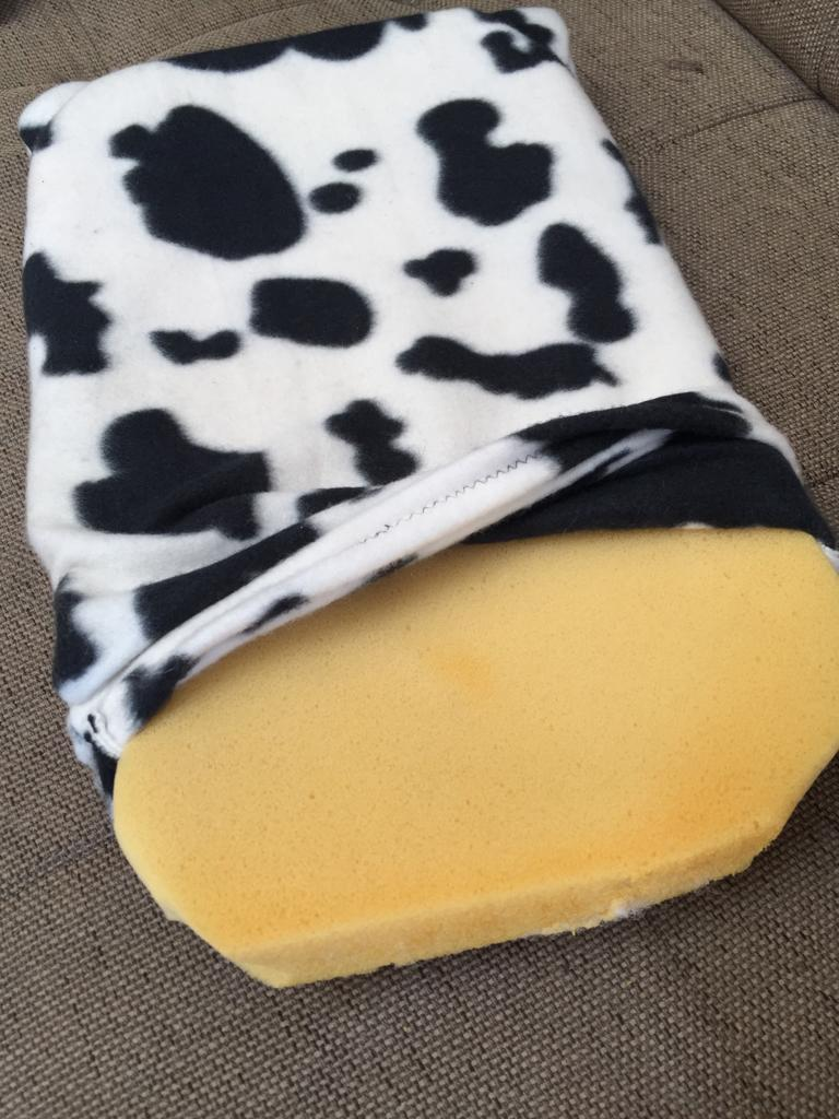 Small Pet bed/mattress in funky cow black and white print