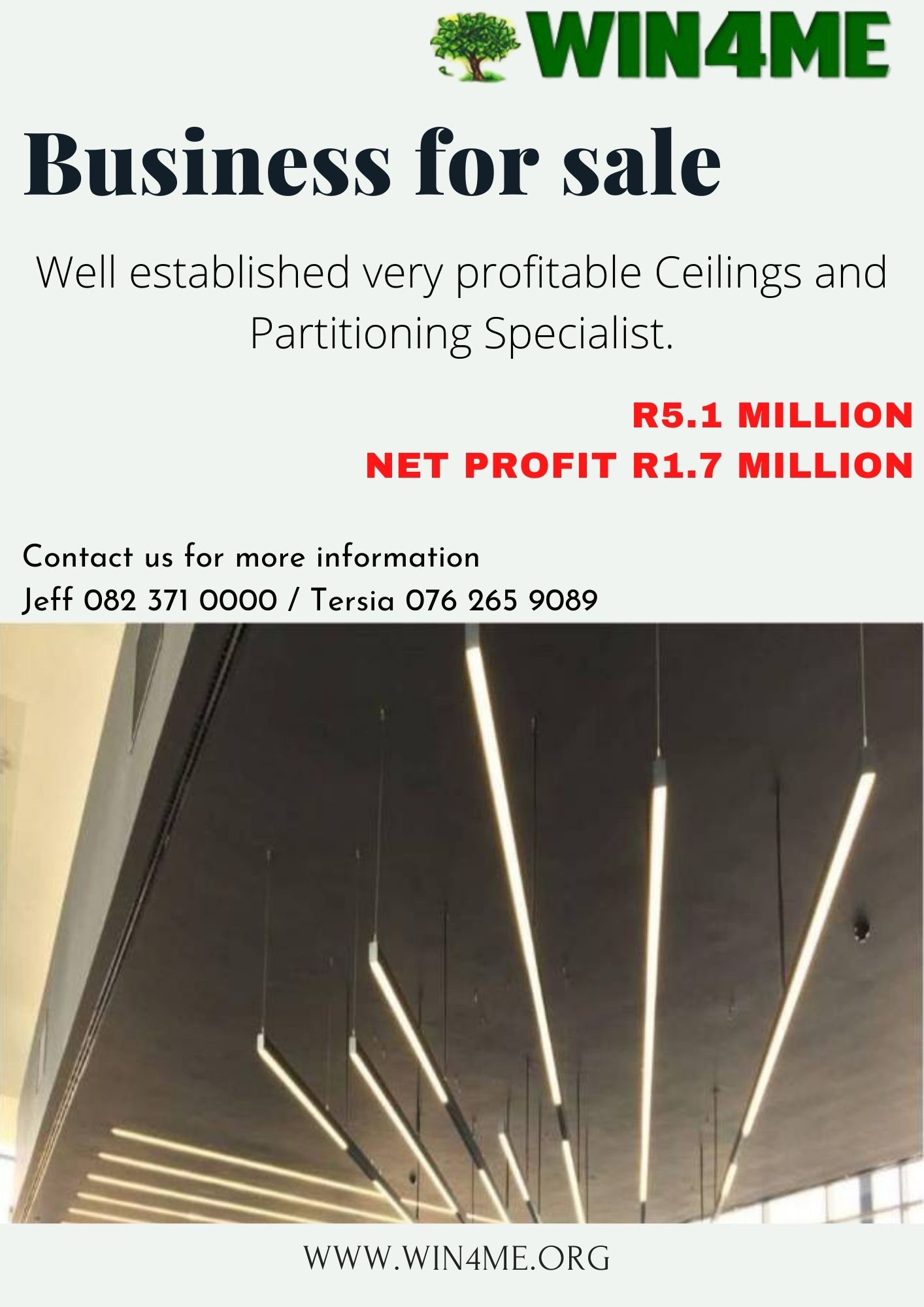 Ceilings and Partitioning Specialist  Business for sale