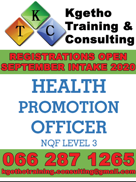 Training of Occupational Qualification: Health Promotion Officer