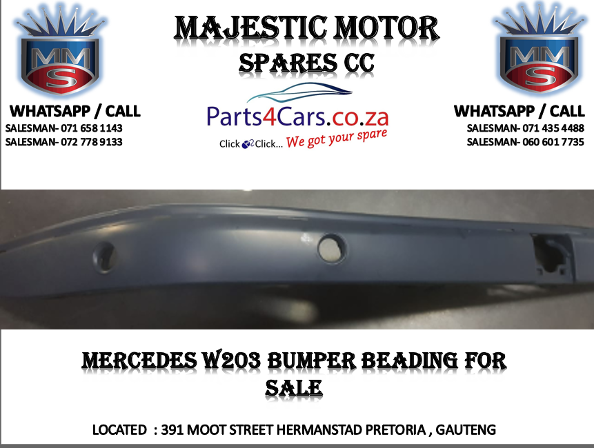 Mercedes w203 bumper beading for sale