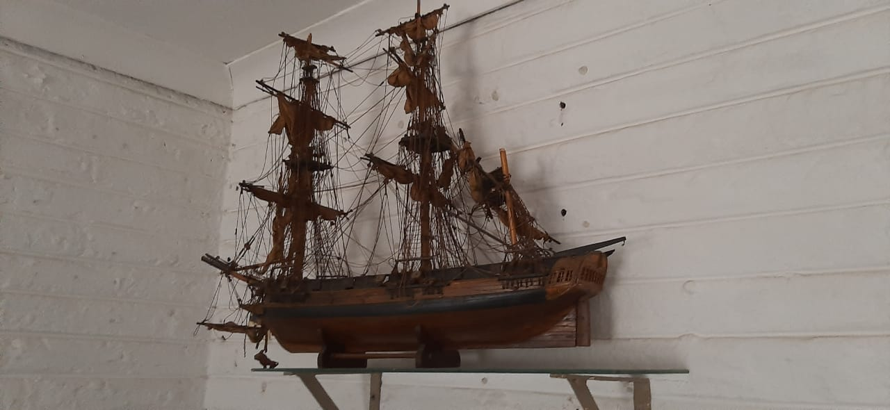 Hand crafted model ship