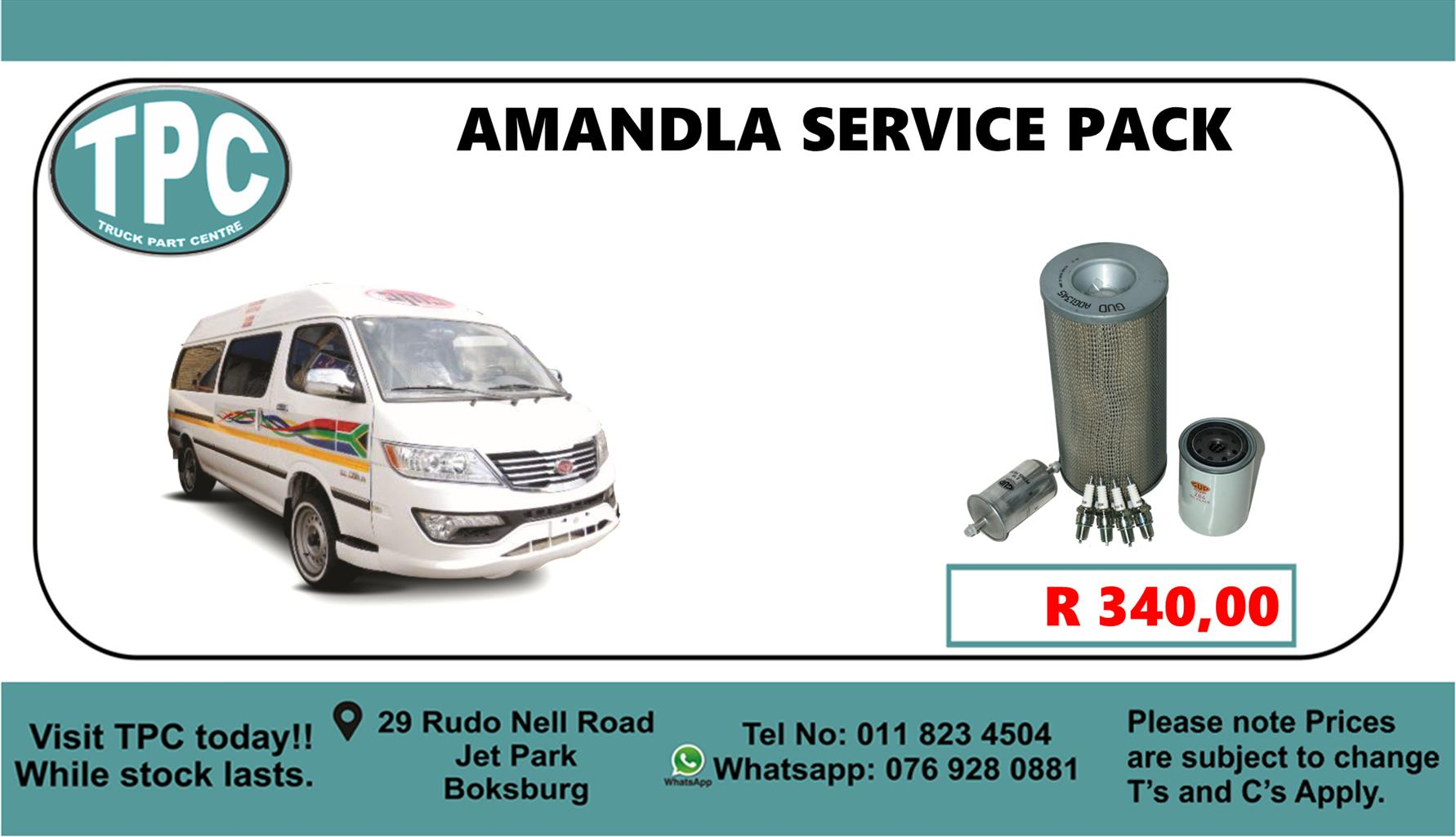 Amandla Service Pack - For Sale at TPC.