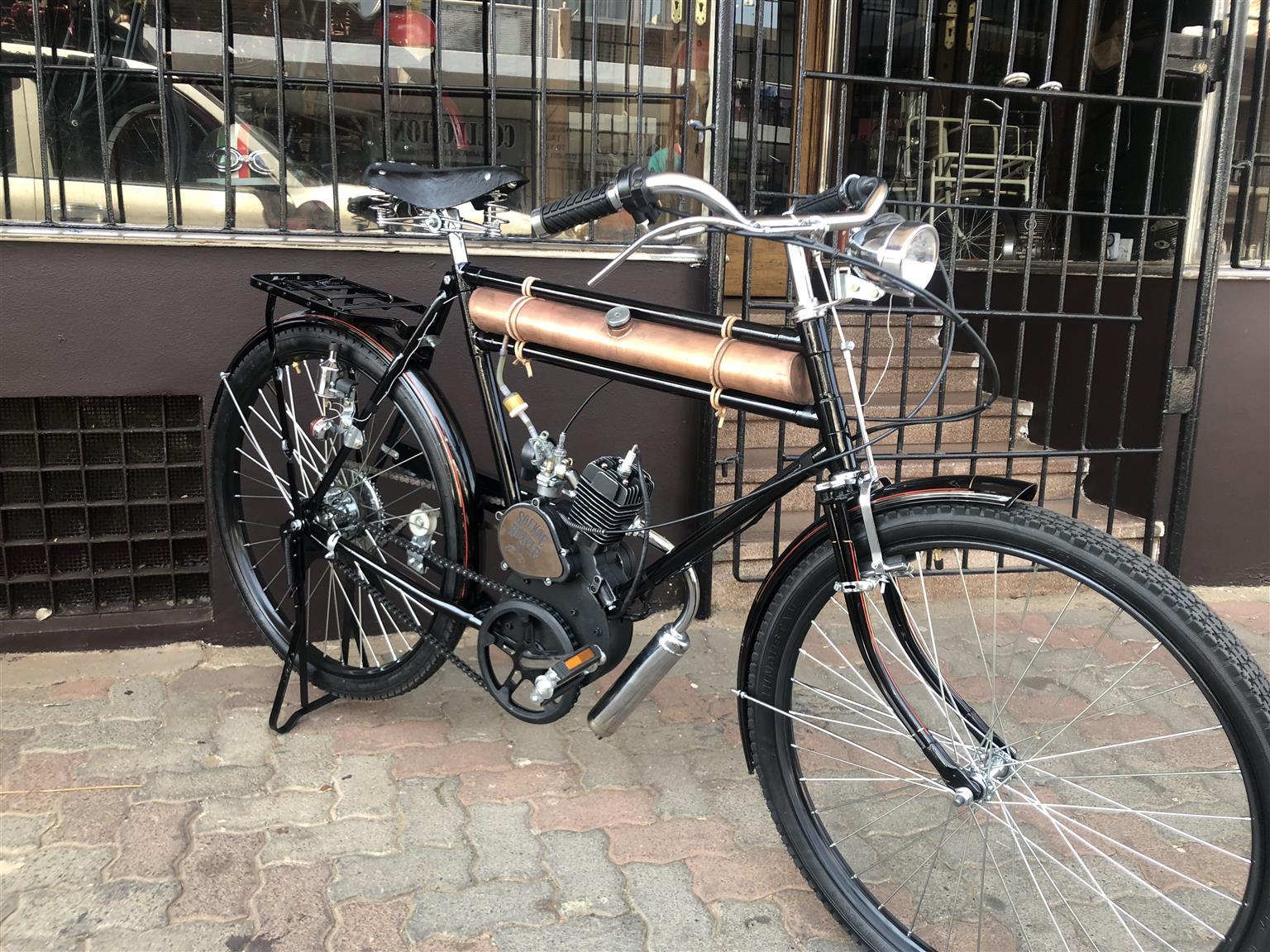 Vintage Moto Bicycle