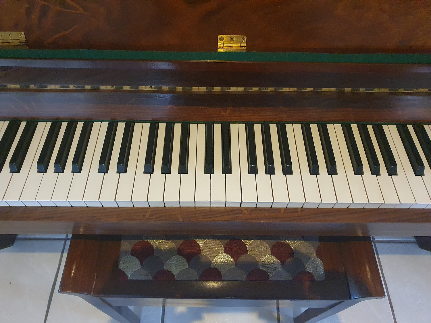 Otto Bach Standup Paino with Chair fully Refurbished and tuned