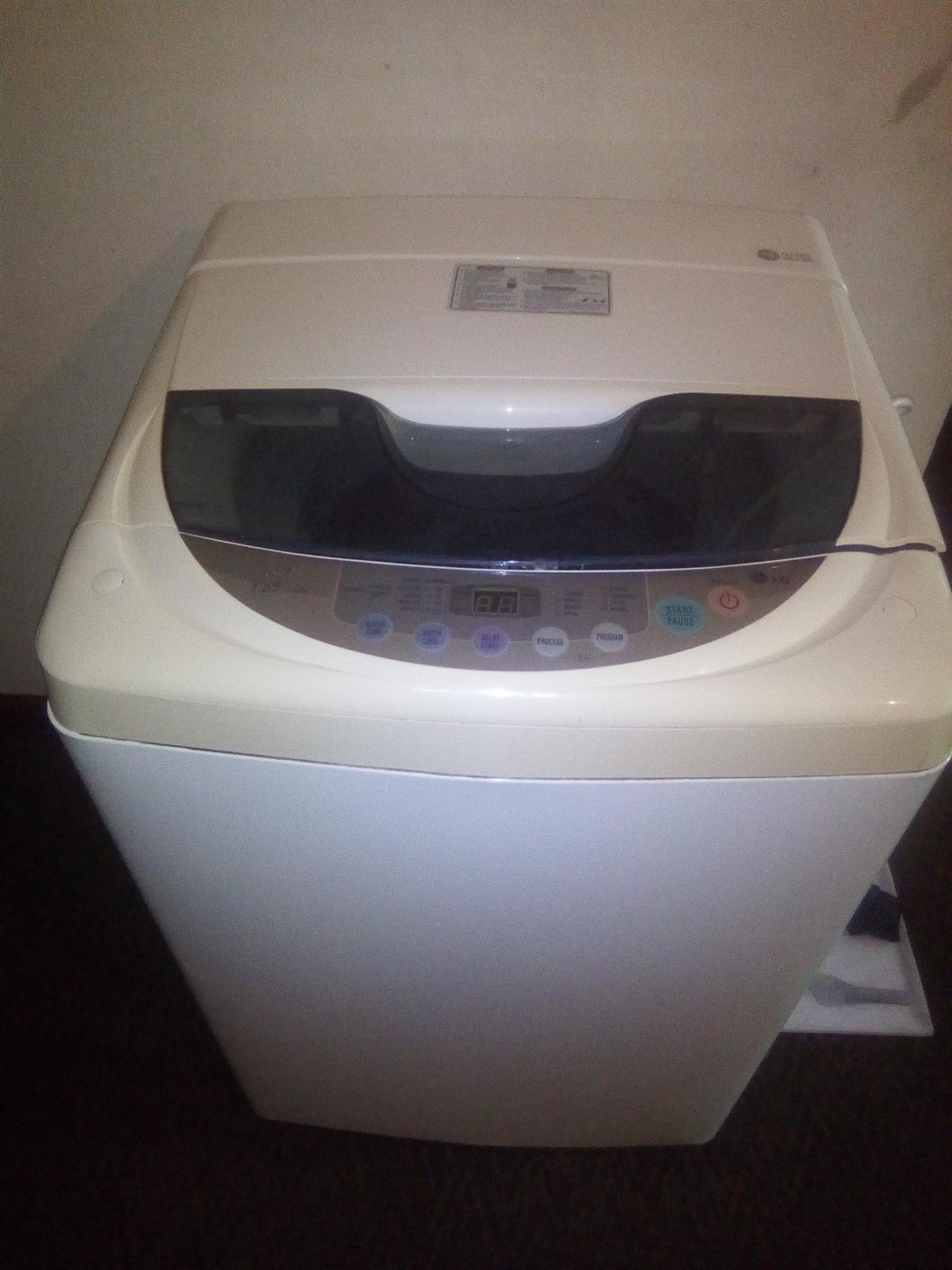 LG 7.2 top loader washing machine