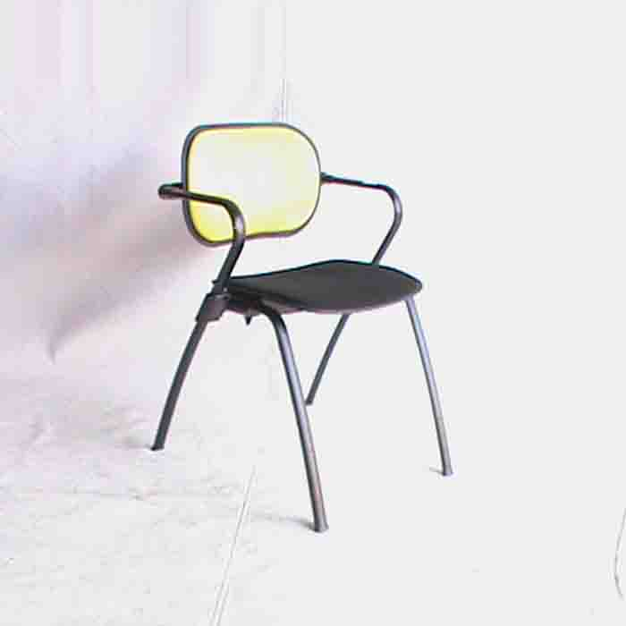 Office visitors fabric chair Black & Green