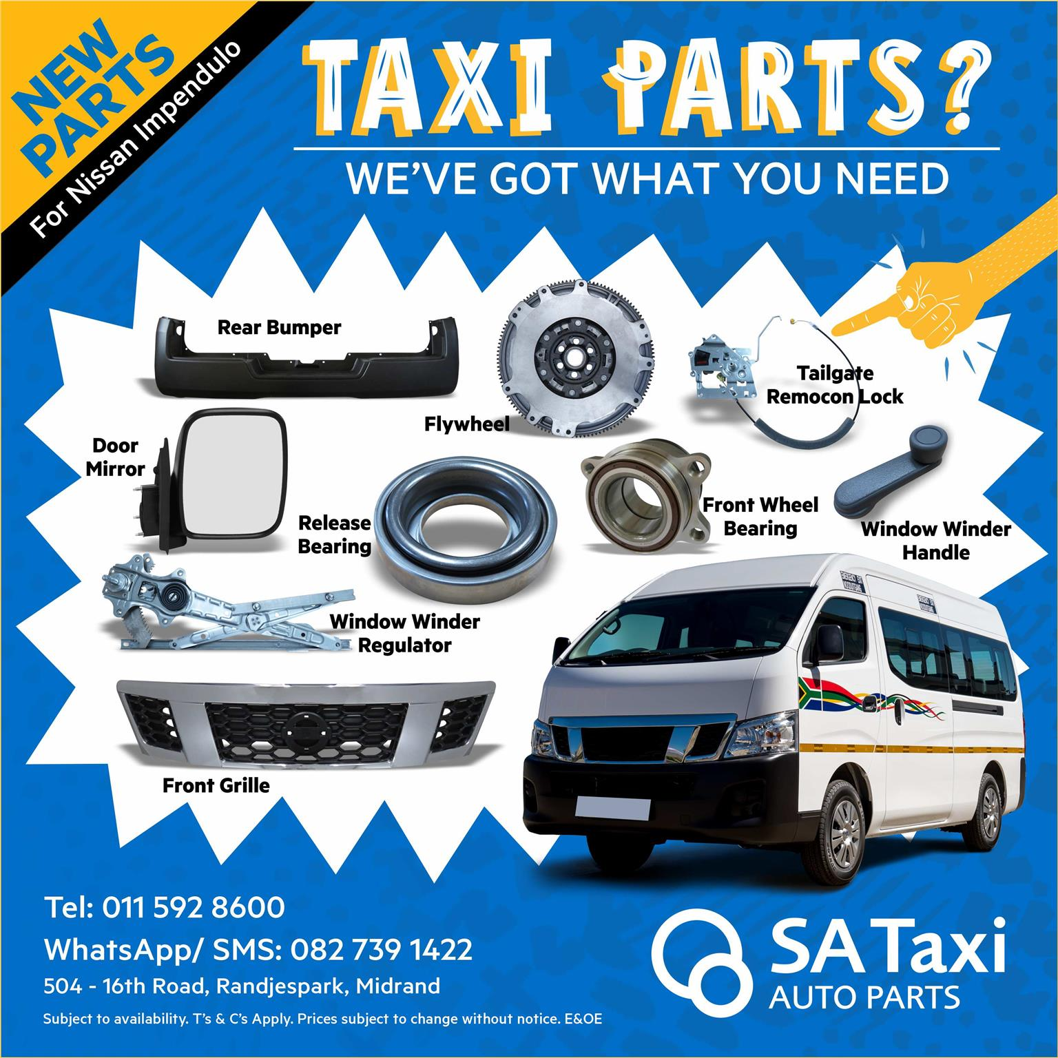 New Fan Blade for Nissan NV350 Impendulo - SA Taxi Auto Parts quality spares