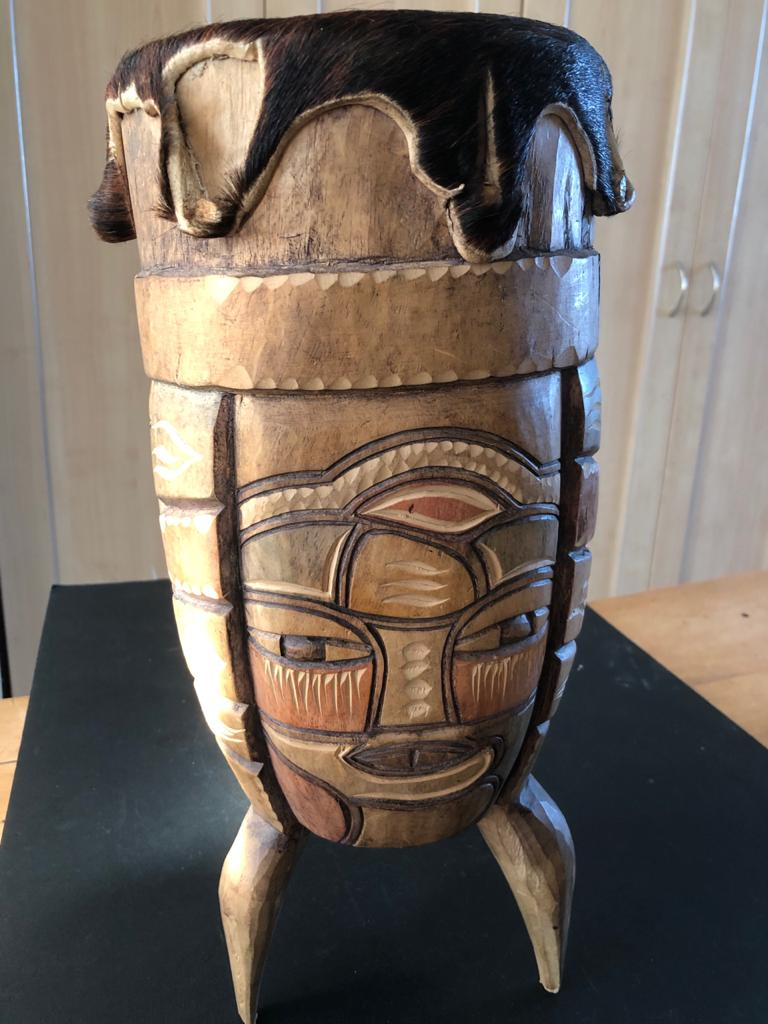 Ethnic African percussion instrument - with skin top