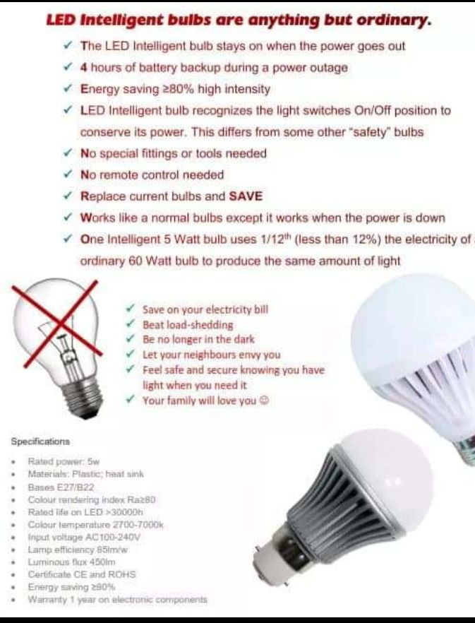 Intelligent light bulbs