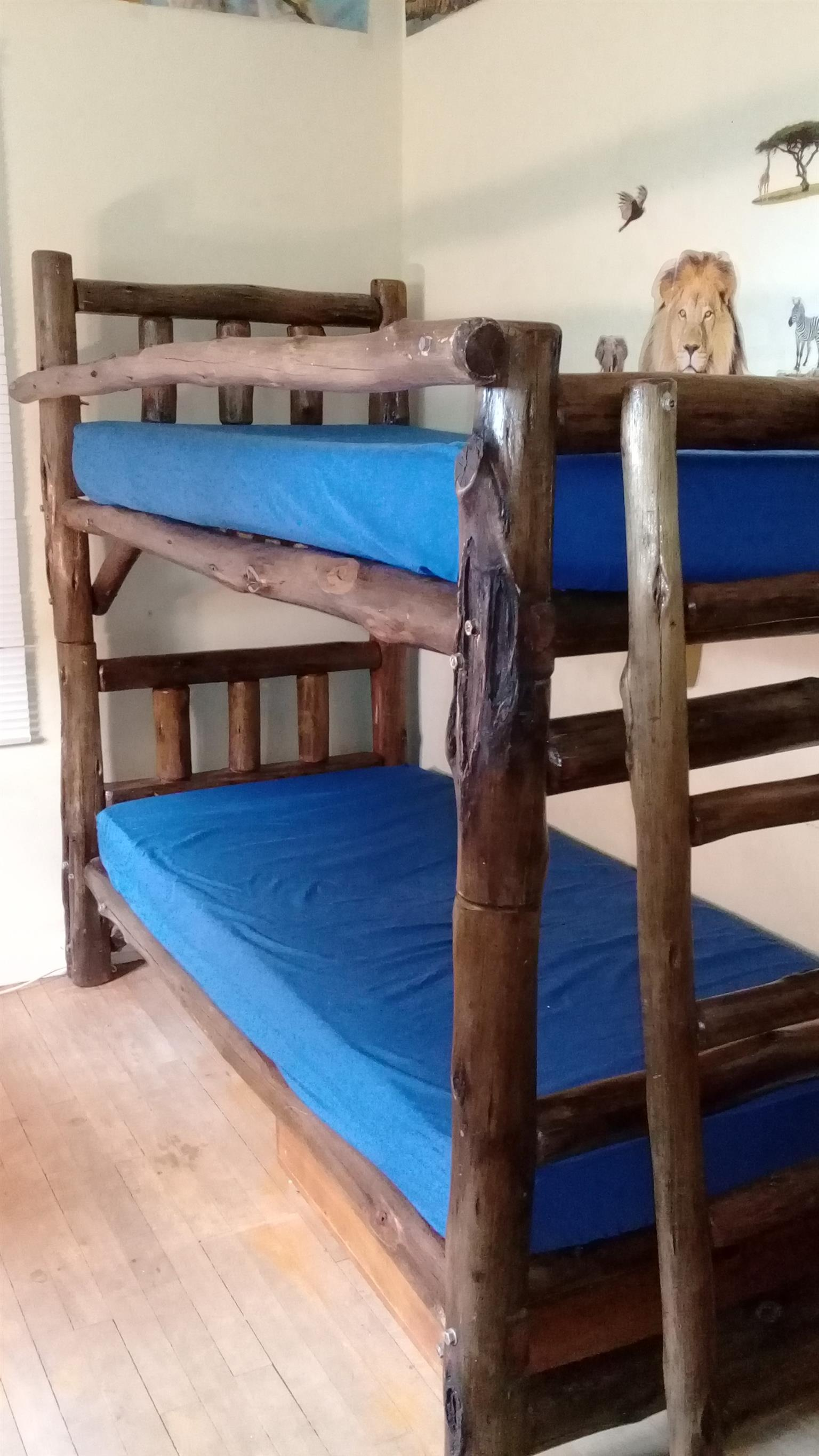 Log Furniture beds ; single beds ; bunkerbeds etc.
