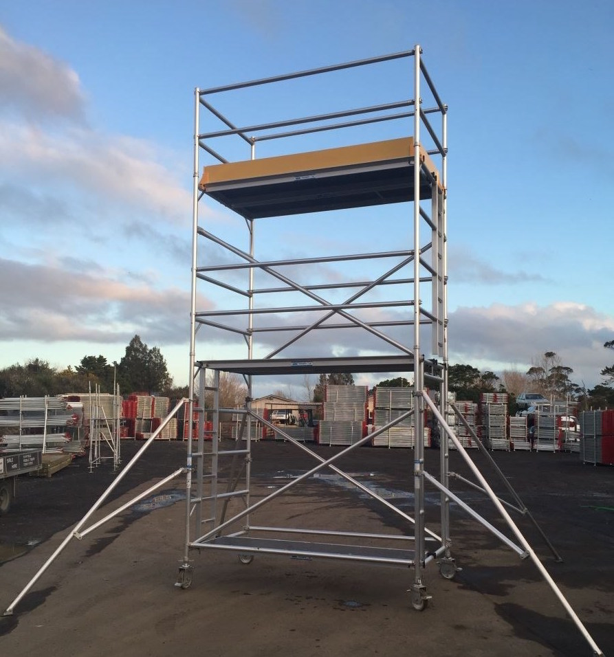 Aluminium 6.2M W/H Scaffold Tower - Fully Complete