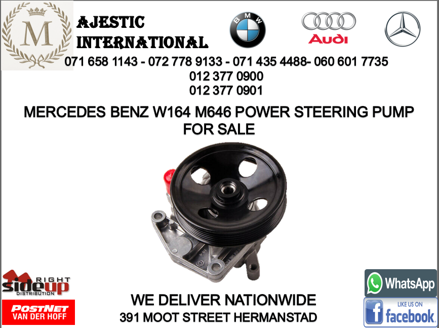 Mercedes benz W164 M646 power steering pump for sale