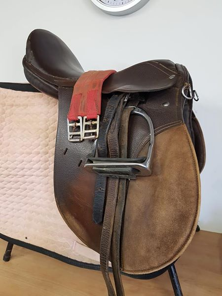Brown GP saddle fully fitted 16.5 inch