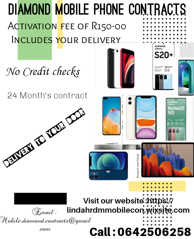 Diamond mobile cellphones contract