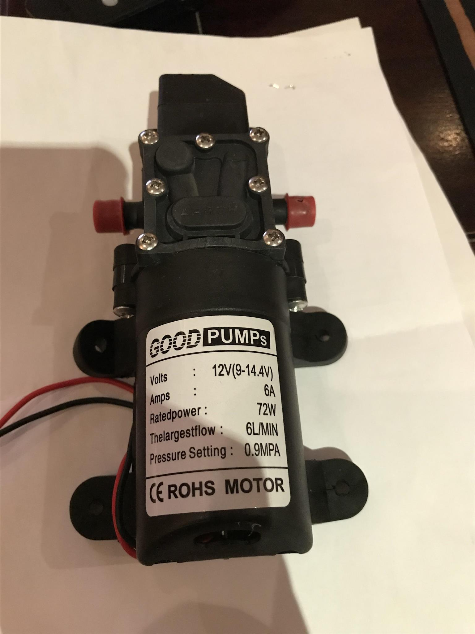 12 volt self priming water pump