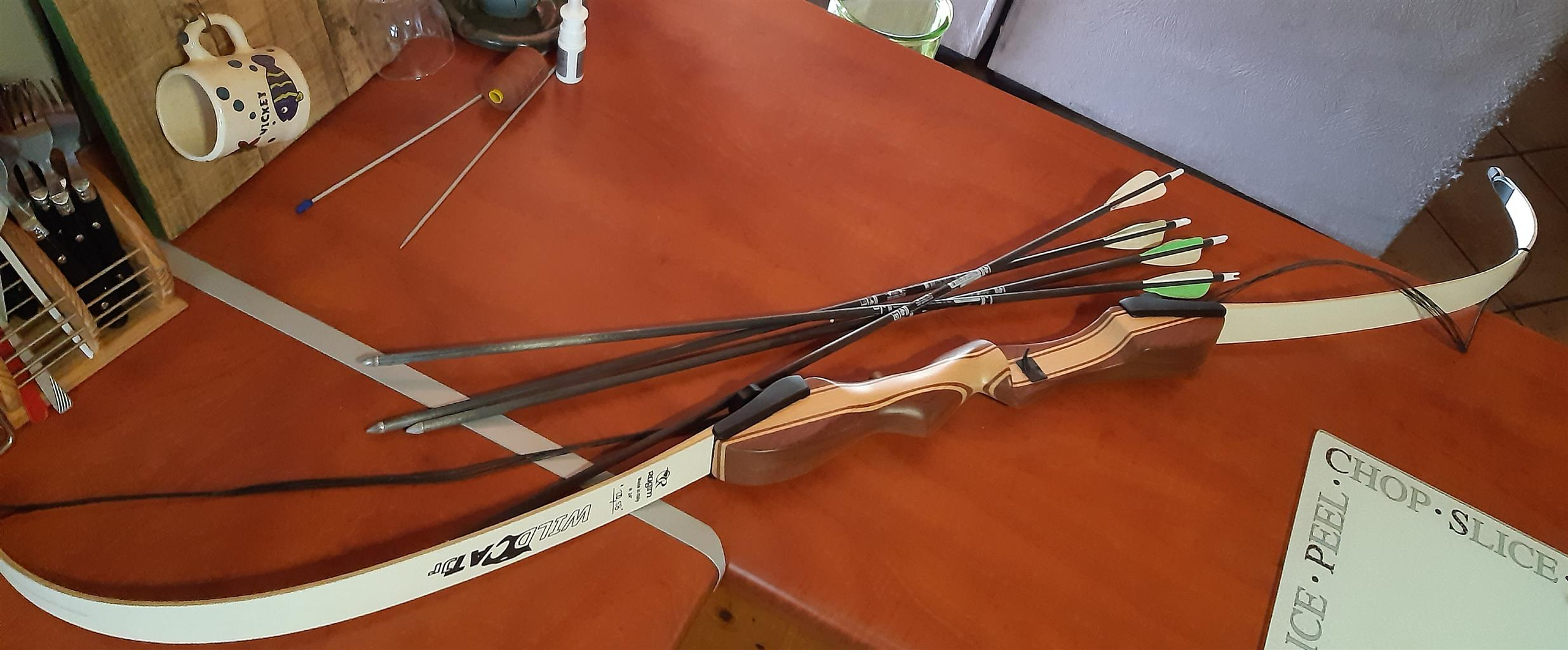 Wildcat recurve bow with accessories