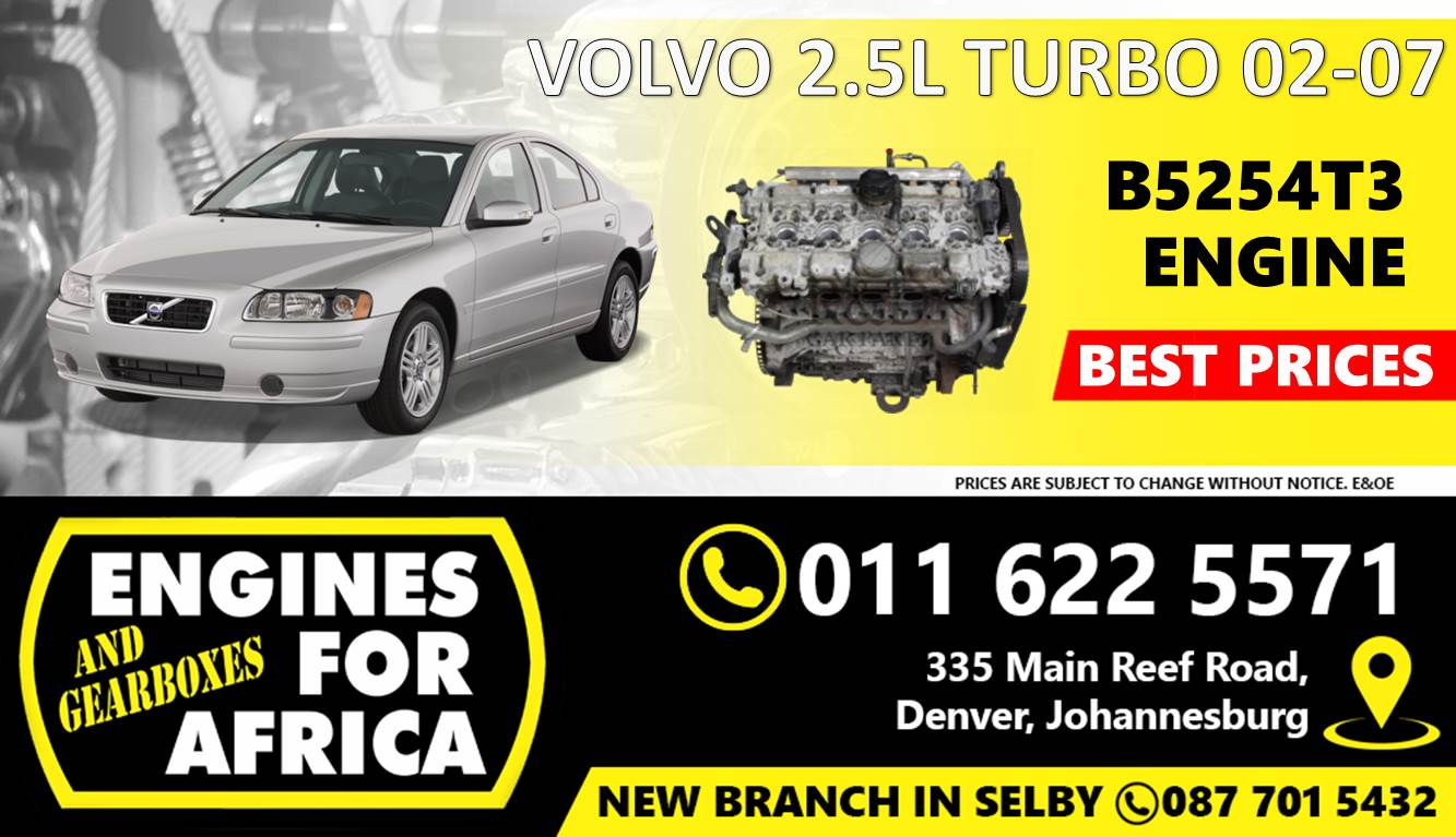 Used Volvo B5254T3 2 5L Turbo 02-07 Engine FOR SALE