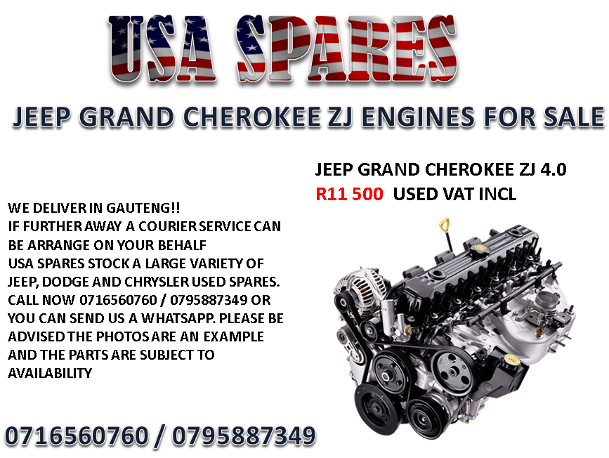 Jeep 4.0 Engine For Sale >> Jeep Grand Cherokee Zj 4 0 Engines For Sale Junk