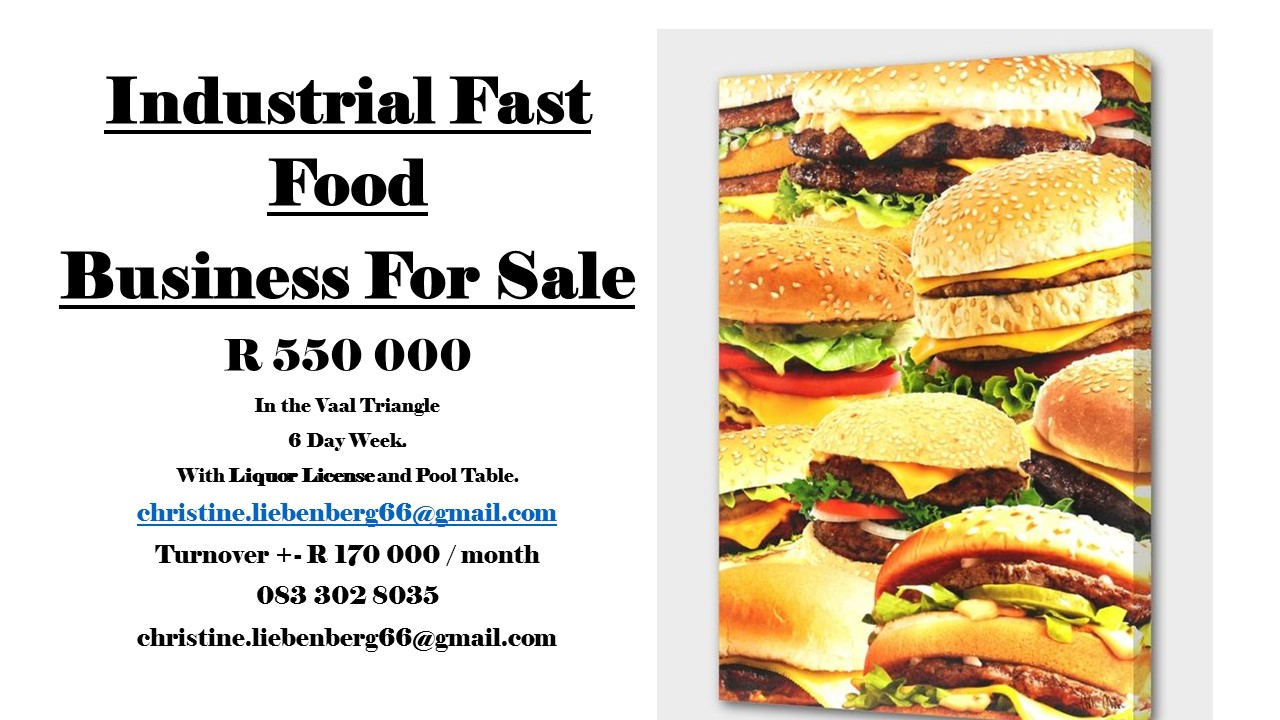 Industrial Fast Food Business For Sale