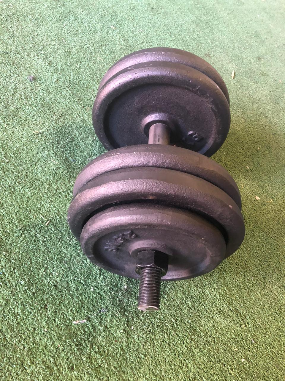 Gym weights , dumbells , barbells and clips for sale
