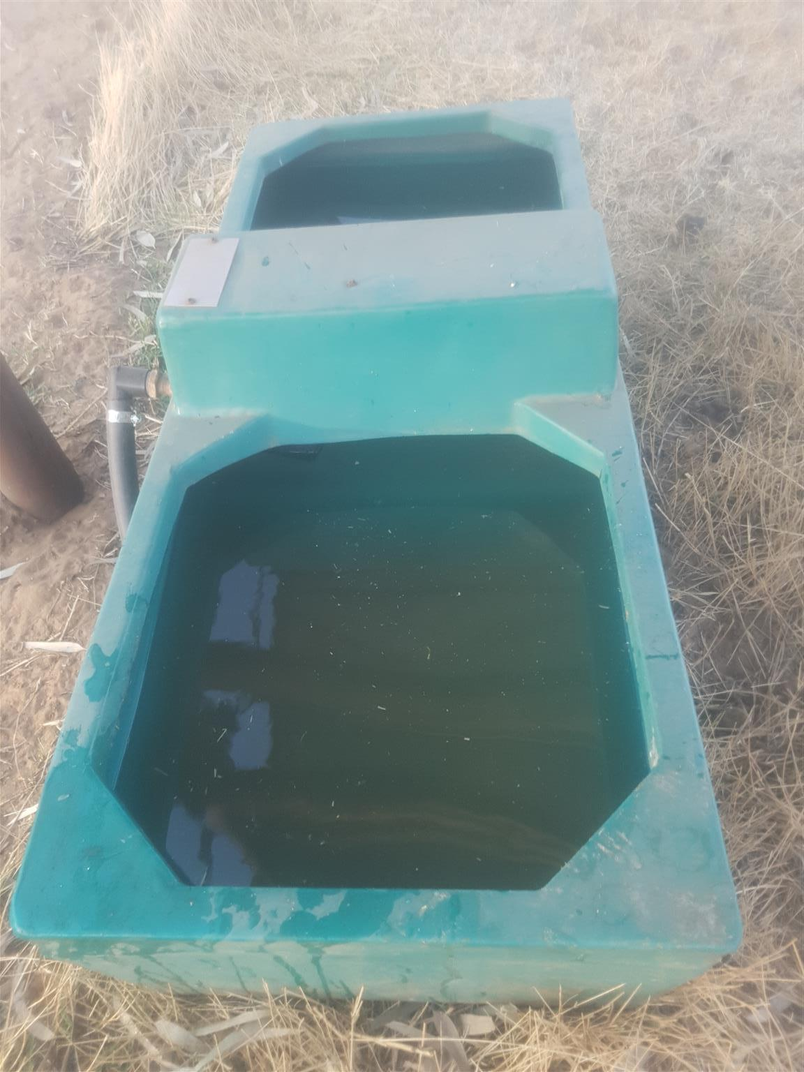 Self filling water troughs