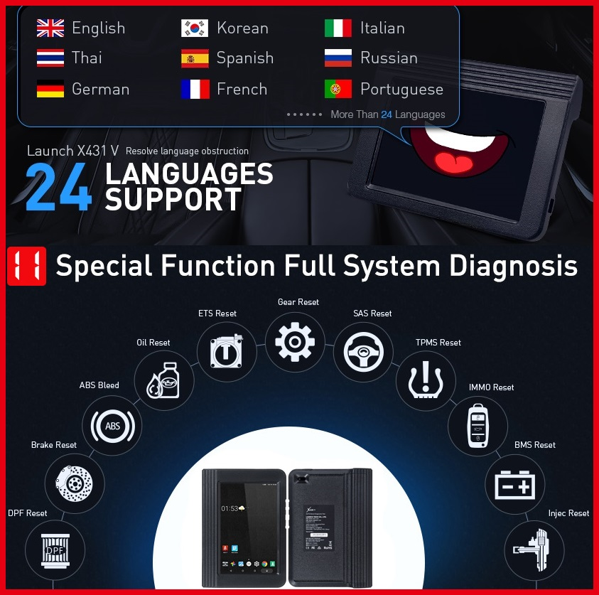 Car diagnostic tool: THE WORLD SUPERIOR X431:LAUNCH X431 V 8 (LAUNCH X431 PRO)