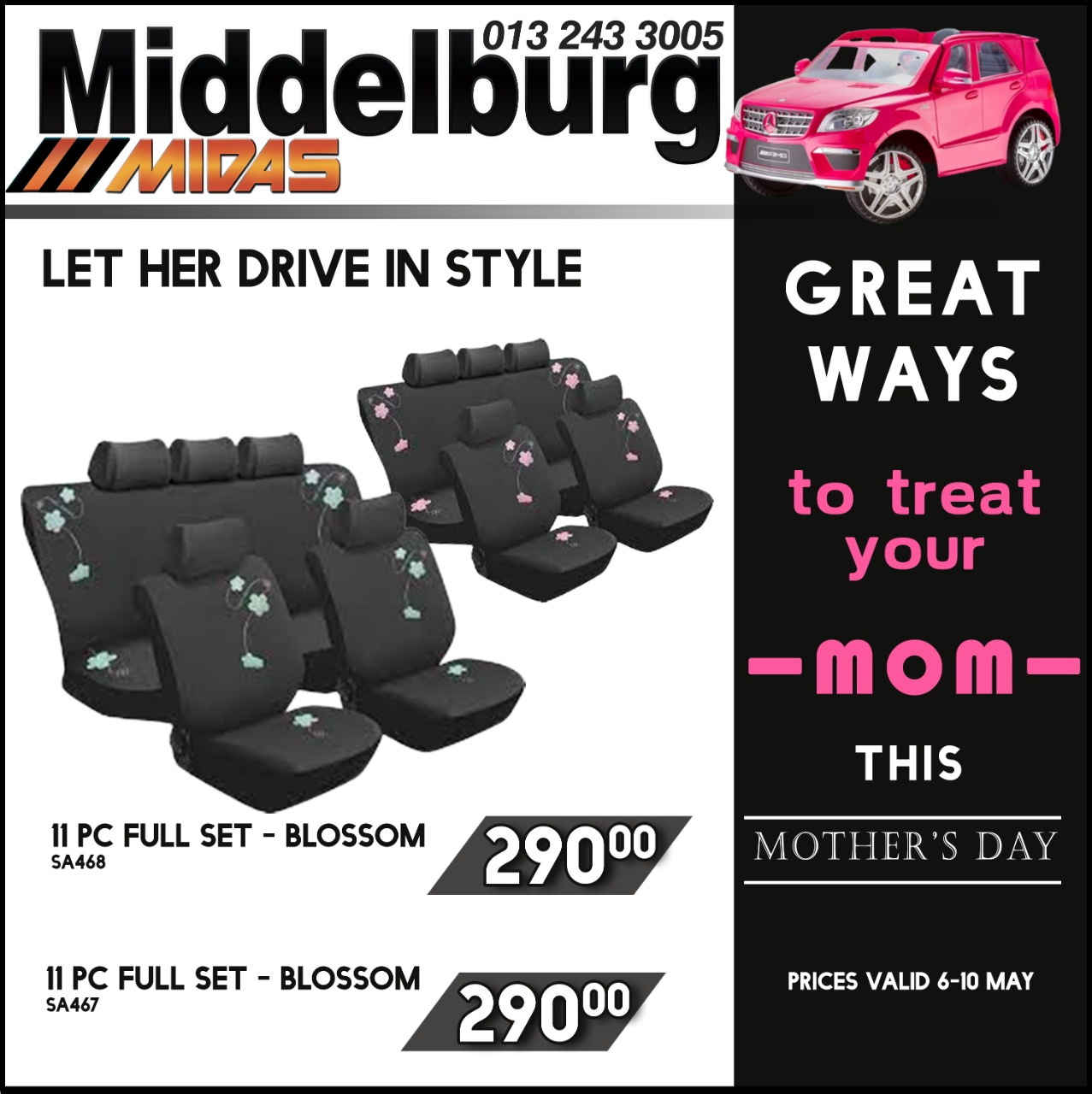 Great ways to Treat your Mom this Mother's Day at Middelburg Midas -Sparesworld!
