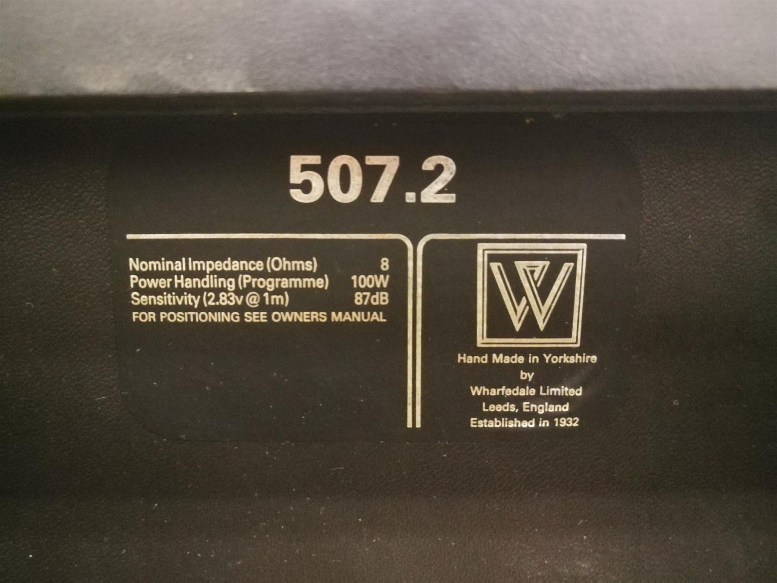 Wharfedale 507.2 Speakers