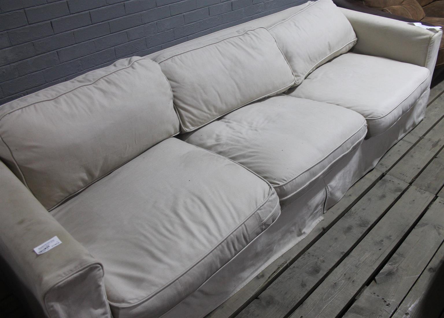 Coricraft white 3 seater couch S046103H #Rosettenvillepawnshop