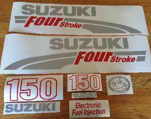 Suzuki DF 150 Outboard motor cowl decals stickers vinyl graphics kits